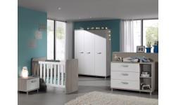 chambre complète NOOR avec armoire 3 portes